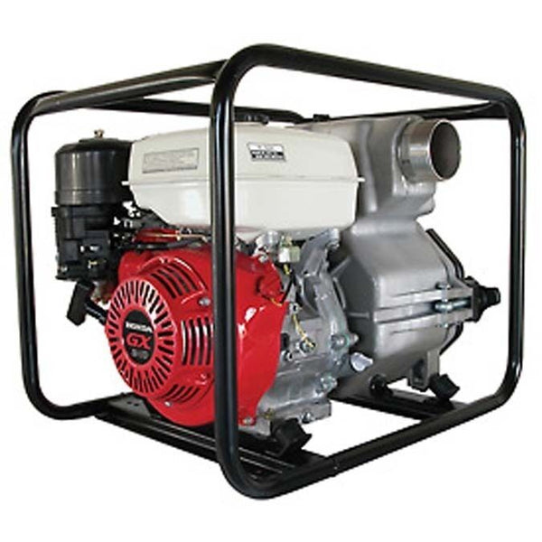 "COMMERCIAL TRASH PUMP 4"" Intake & Outlet - 11 HP - Honda Engine - 506 GPM"