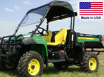 HARD WINDSHIELD and ROOF COMBO for John Deere TS TX & Turf Gator - Soft Top