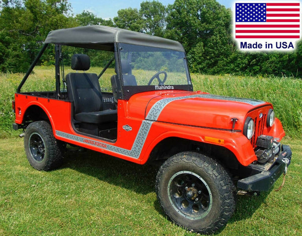 SOLID HARD Windshield & ROOF for Mahindra Roxor - Soft Top - Puncture Resistant