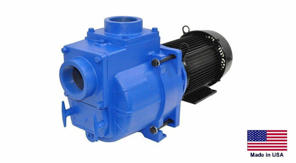 "TRASH & SEWAGE PUMP Industrial - 3"" Ports - 10 Hp - 230/460V - 3 Ph - 23,400 GPH"
