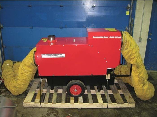 Commercial Indirect Diesel Heater - 3500 CFM - 396,000 BTU - 14 Amps - 42 Gallon