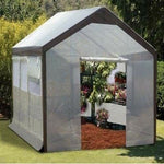 8' W x 10' L x 8' H - Green House - STEEL FRAME - Built in Vents - Walk In
