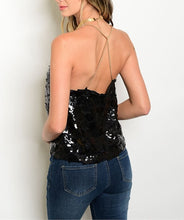 Sequin Chain Strap Top