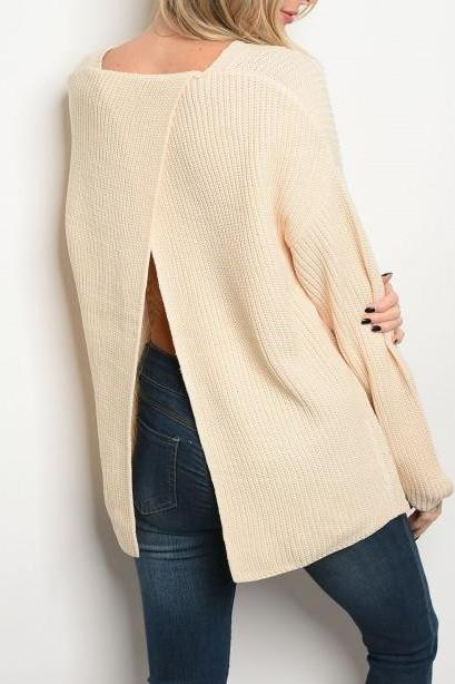 Crossover Back Sweater