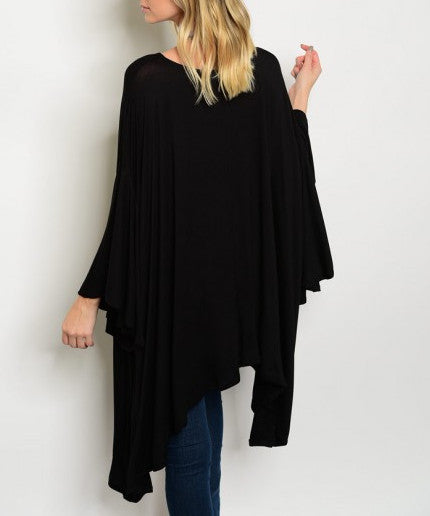 Boatneck Poncho Top