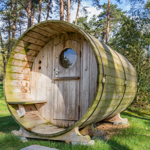 Barrel Sauna with Porch