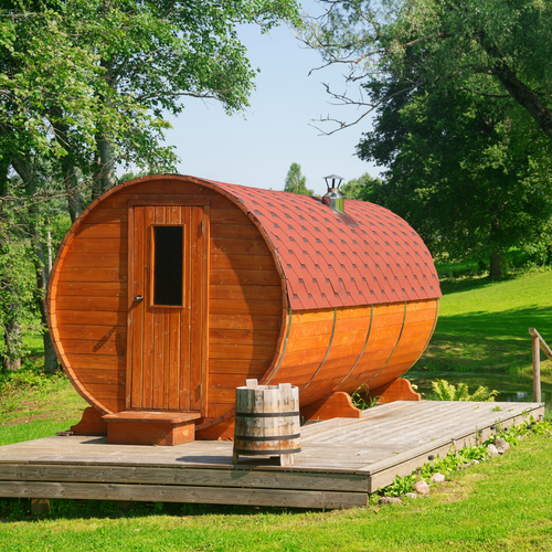 Two Room Barrel Sauna