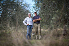 Peter and Marlies in their olive grove