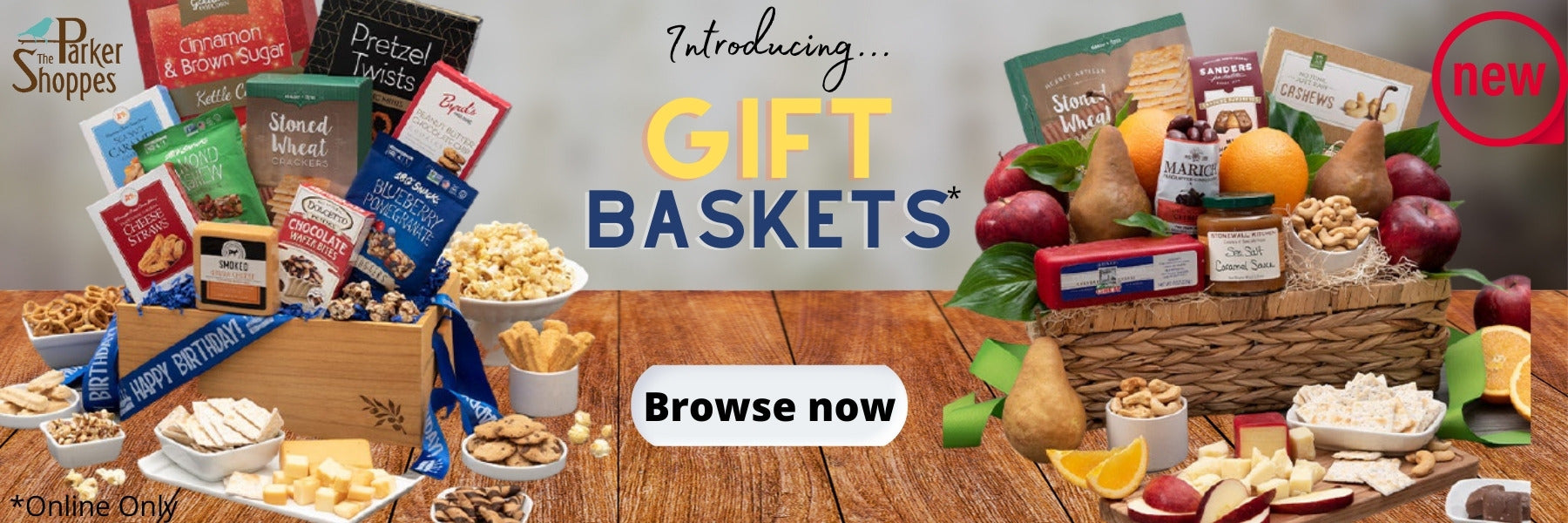 Gourmet Food Gift Baskets at The Parker Shoppes
