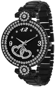 Black Fashion Italian Design Women Analog watch for Girls and Ladies Watch - For Women