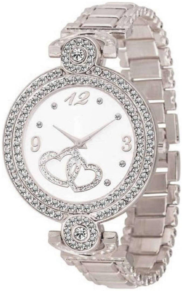 Sliver Metal Watch for Womens