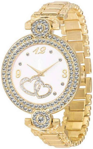 Gold Fashion Italian Design Women Analog watch for Girls and Ladies Watch - For Women