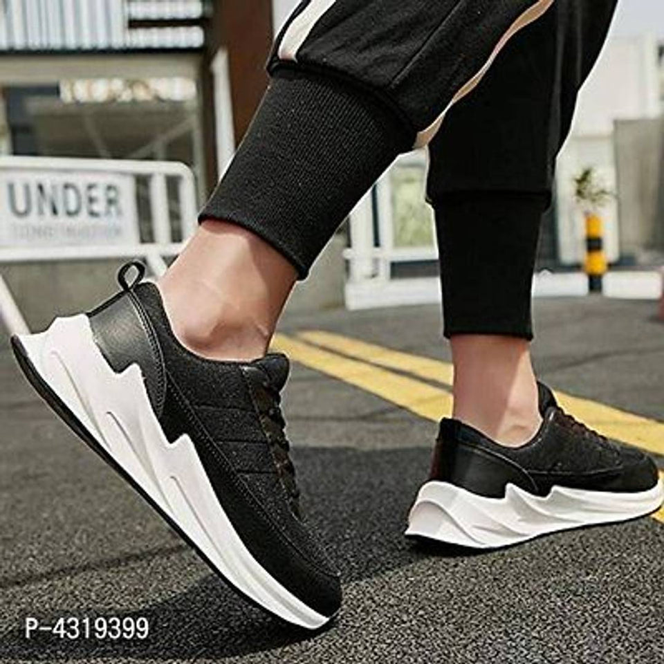 Elegant - Stylish Black Sports Shoes For Men