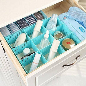 Adjustable Stretchable Interlocking Plastic Drawer Divider(Set of 6)