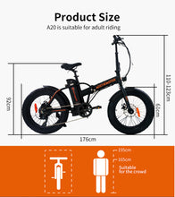Load image into Gallery viewer, Fat Tire Folding 36V 13AH 500W Electric Bike ebike