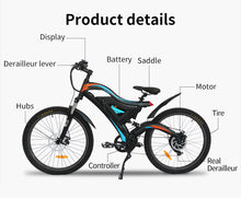 Load image into Gallery viewer, Mountain Electric Bicycle 48V 11.6AH 500W Electric Bike ebike