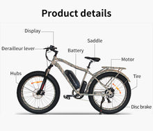 Load image into Gallery viewer, Camo Fat Tire Mountain Electric Bicycle 48V 13AH 750W Electric Bike ebike