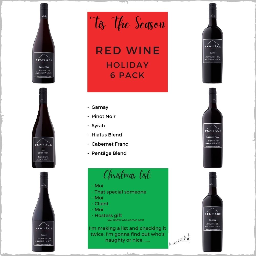 RED WINE Holiday 6 Pack