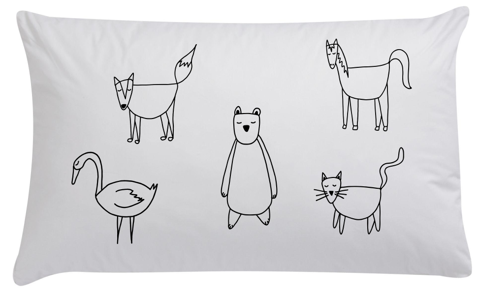Animals Organic Pillowcase - Wall decals - 100 Percent Heart