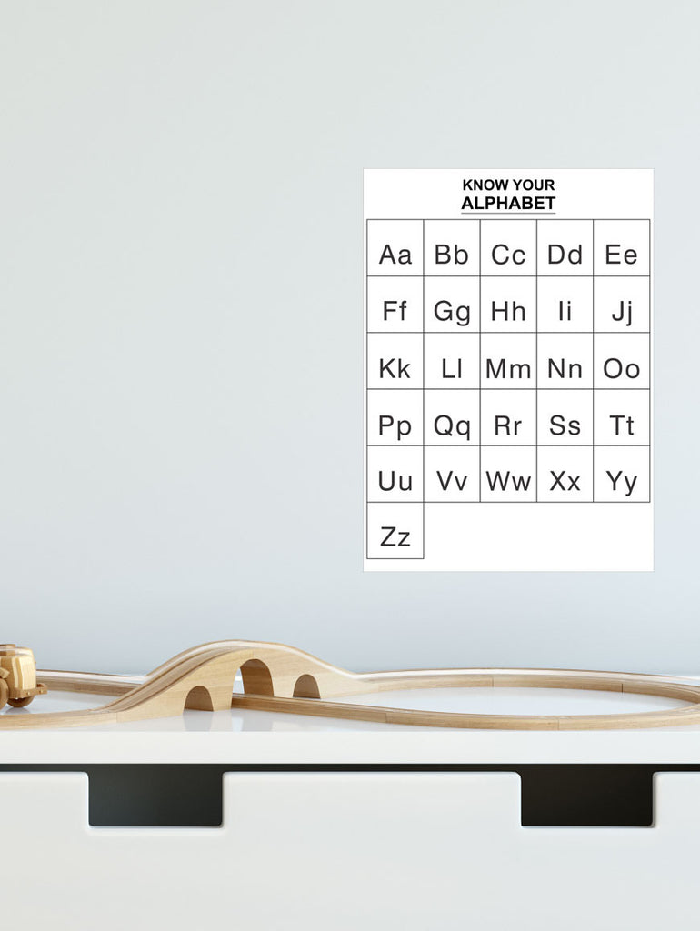 Alphabet removable Poster