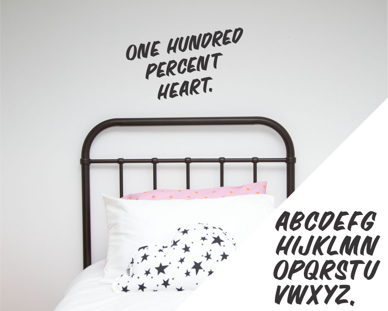 Alphabet - Hand Painted - Wall decals - 100 Percent Heart