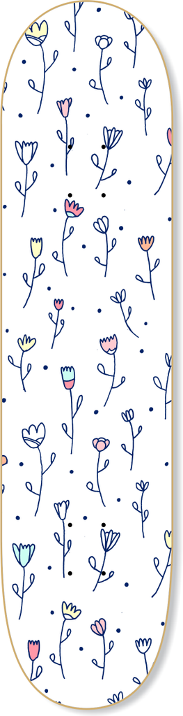 Floral Skateboard - Wall decals - 100 Percent Heart