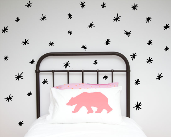 Hand painted asterix Wall decals - Wall decals - 100 Percent Heart
