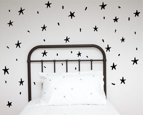 Hand painted Stars Wall decals
