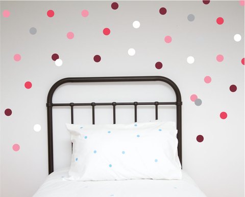 Large Polka Dot Wall decals - Pinks - Wall decals - 100 Percent Heart