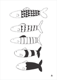 Fish Art Print - Wall decals - 100 Percent Heart