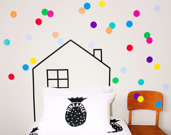 Large Polka Dots - Fruit Salad - Wall decals - 100 Percent Heart