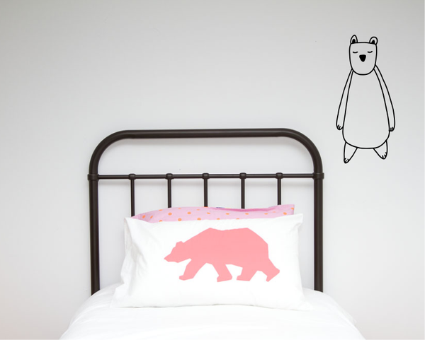 Single Bear Illustration Wall decal