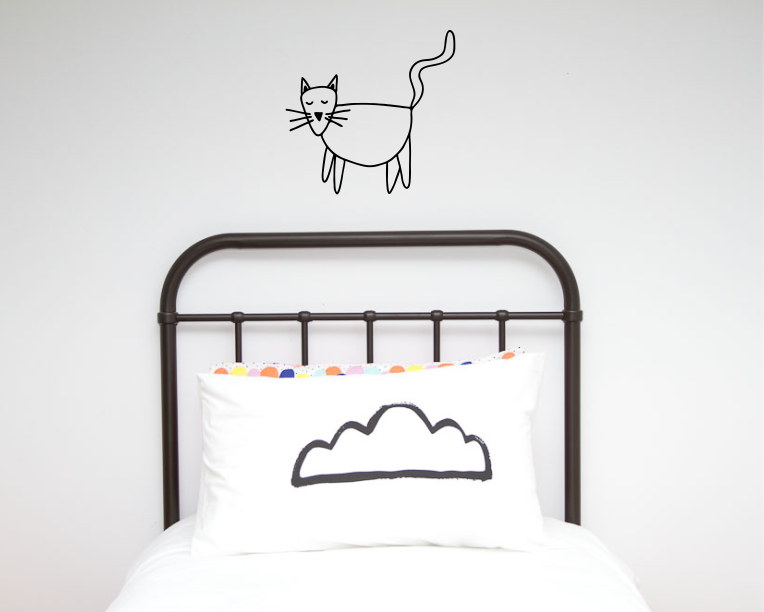 Cat Illustration Wall decal