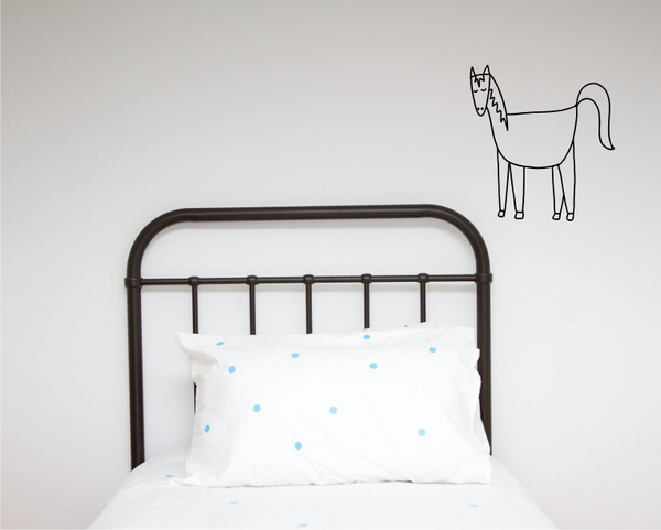 Single Horse Illustration Wall decal