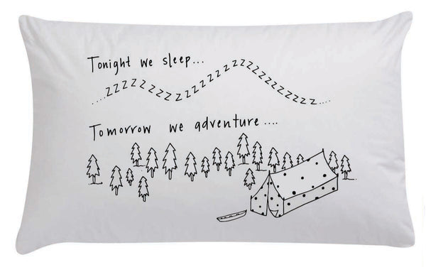 Tonight We Sleep Organic Pillowcase - Black - Wall decals - 100 Percent Heart