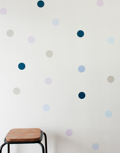 Polka Dot Wall Art Stickers - Blues