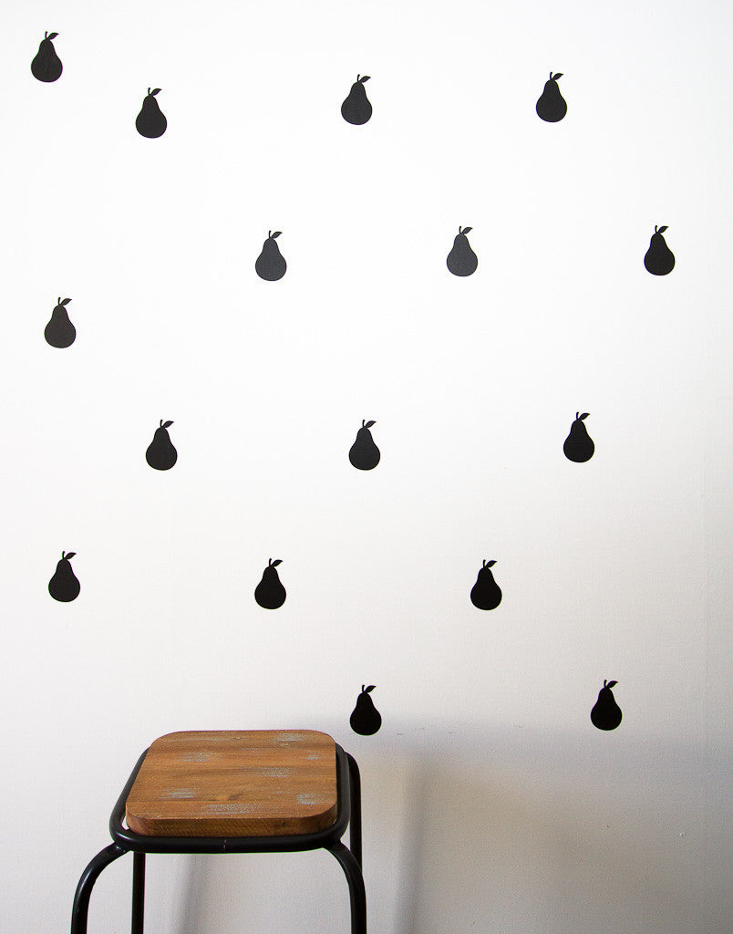 Pears Wall Stickers - Wall decals - 100 Percent Heart