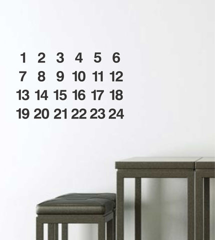 Advent Calender Wall Sticker - Wall decals - 100 Percent Heart