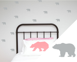 Grizzly Bear Wall Stickers - Wall decals - 100 Percent Heart