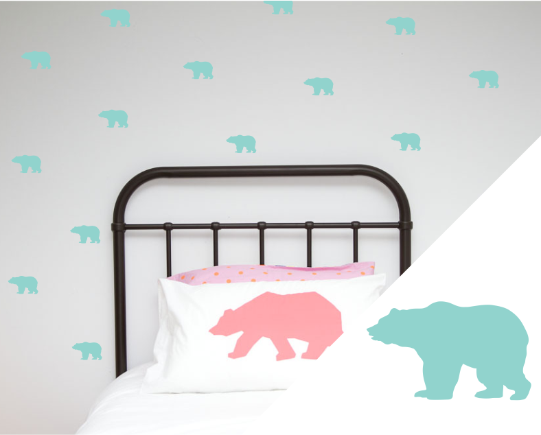 Grizzly Bear Wall Stickers