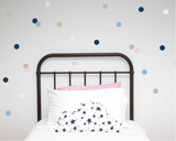 Polka Dot Wall Art Stickers - Blues - Wall decals - 100 Percent Heart