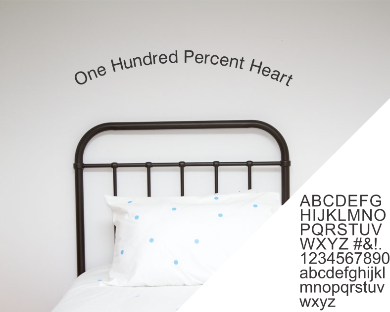 Alphabet - Classic - Wall decals - 100 Percent Heart