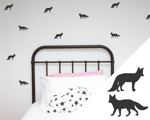 Foxes Wall Stickers - Wall decals - 100 Percent Heart