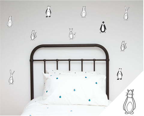 Friendly Fellows Wall Stickers