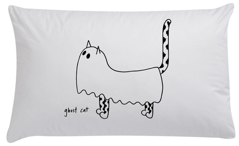 GhostCat Organic Pillowcase - PRE ORDER