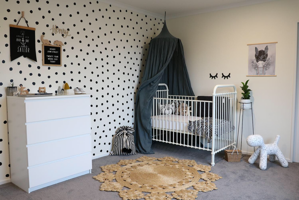 Hand painted Polka Dot Wall decals