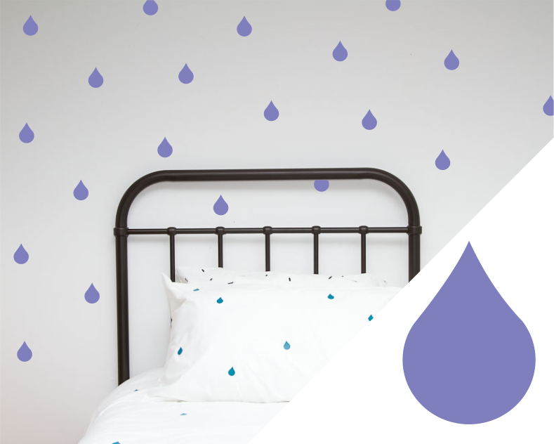 Drip Wall Art stickers - Wall decals - 100 Percent Heart