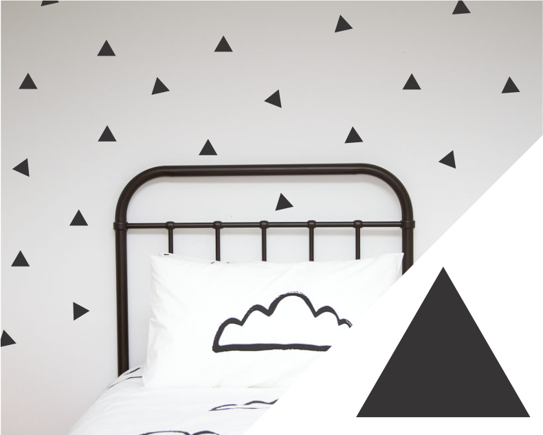 Large Triangles Wall Stickers - Wall decals - 100 Percent Heart