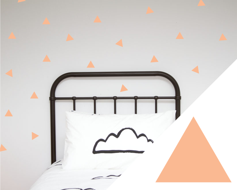 Large Triangles Wall Stickers