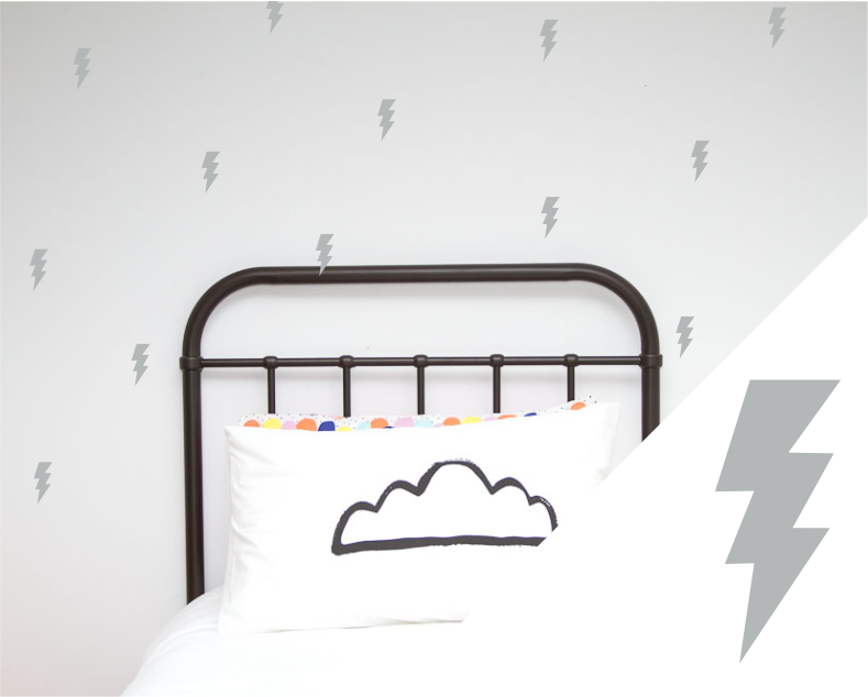 Lightning Bolts Wall Stickers - Wall decals - 100 Percent Heart